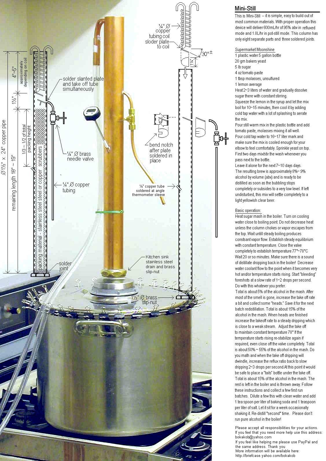 Ректификационная колонна для спирта своими руками 90